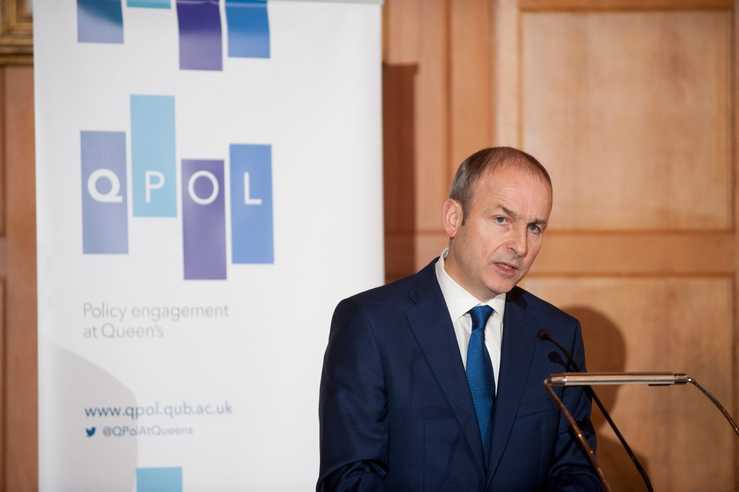 Micheál Martin TD Speaks at Queen's on Brexit