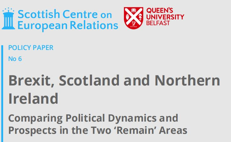 Deepening Political Divisions and Exacerbating Peripherality:  Scotland, Northern Ireland and Brexit